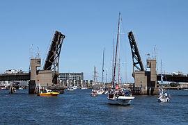 Birkenhead Bridge open 2010