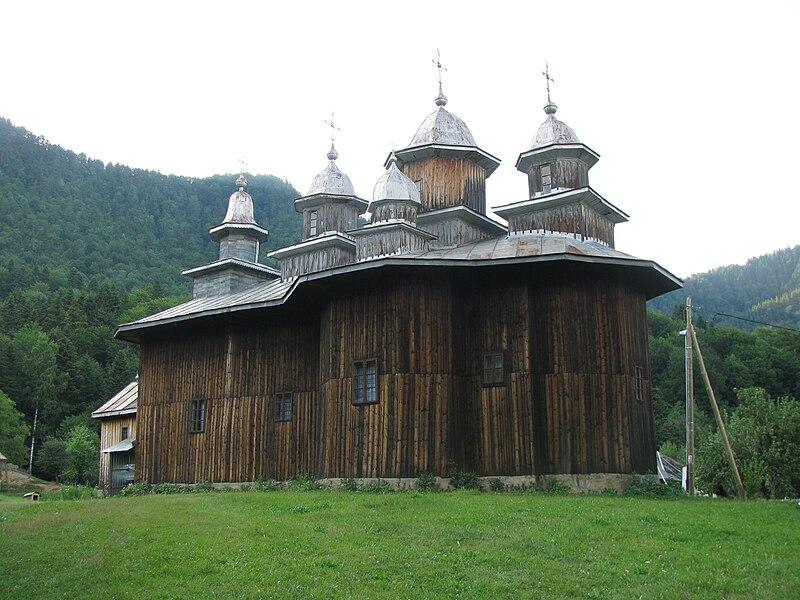 Fișier:Biserica de lemn Adormirea Maicii Domnului din satul Gavanu comuna Manzalesti judetul Buzau Romania 3.jpg