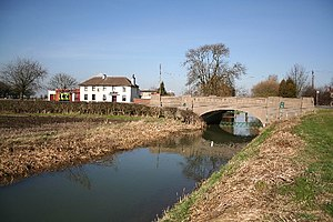 Osgodby, Lincolnshire - The River Ancholme and The Bell at Bishopbridge