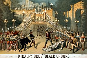 The Black Crook - Poster of The Kiralfy Brothers' 1873 revival of the musical.