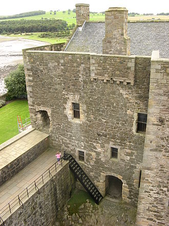 Blackness Castle - The South Tower, seen from the top of the Central Tower