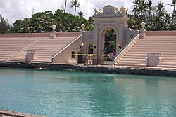 Bleachers--Waikiki Natatorium War Memorial near Kaimana Beach-sunny.jpg