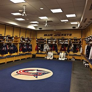 Nationwide Arena - Blue Jackets Locker Room