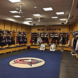 Nationwide Arena - Blue Jackets Locker Room