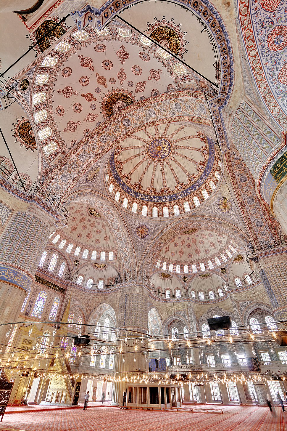 Blue Mosque Interior 2 Wikimedia Commons