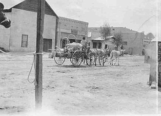 Blythe, California - Blythe street scene, c. 1900