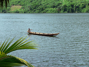 Boat on the Volta River, Ghana