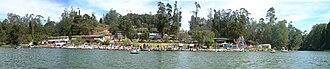 Ooty Lake - Image: Boathouse pan 4diff pics