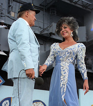 English: Bob Hope and Elizabeth Taylor perform...