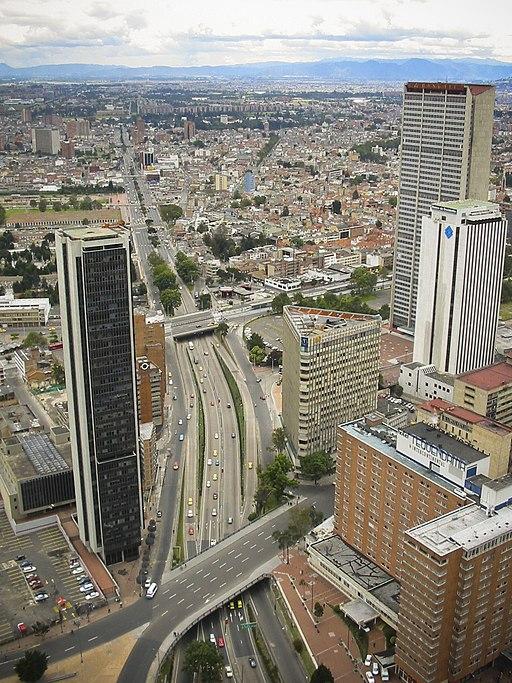 Bogota Aerial View Best Bogota hostels
