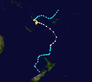 Cyclone Bola - Image: Bola 1988 track