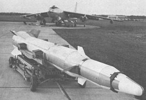 Bold Orion on trailer with B-47 launch aircraft in background.jpg