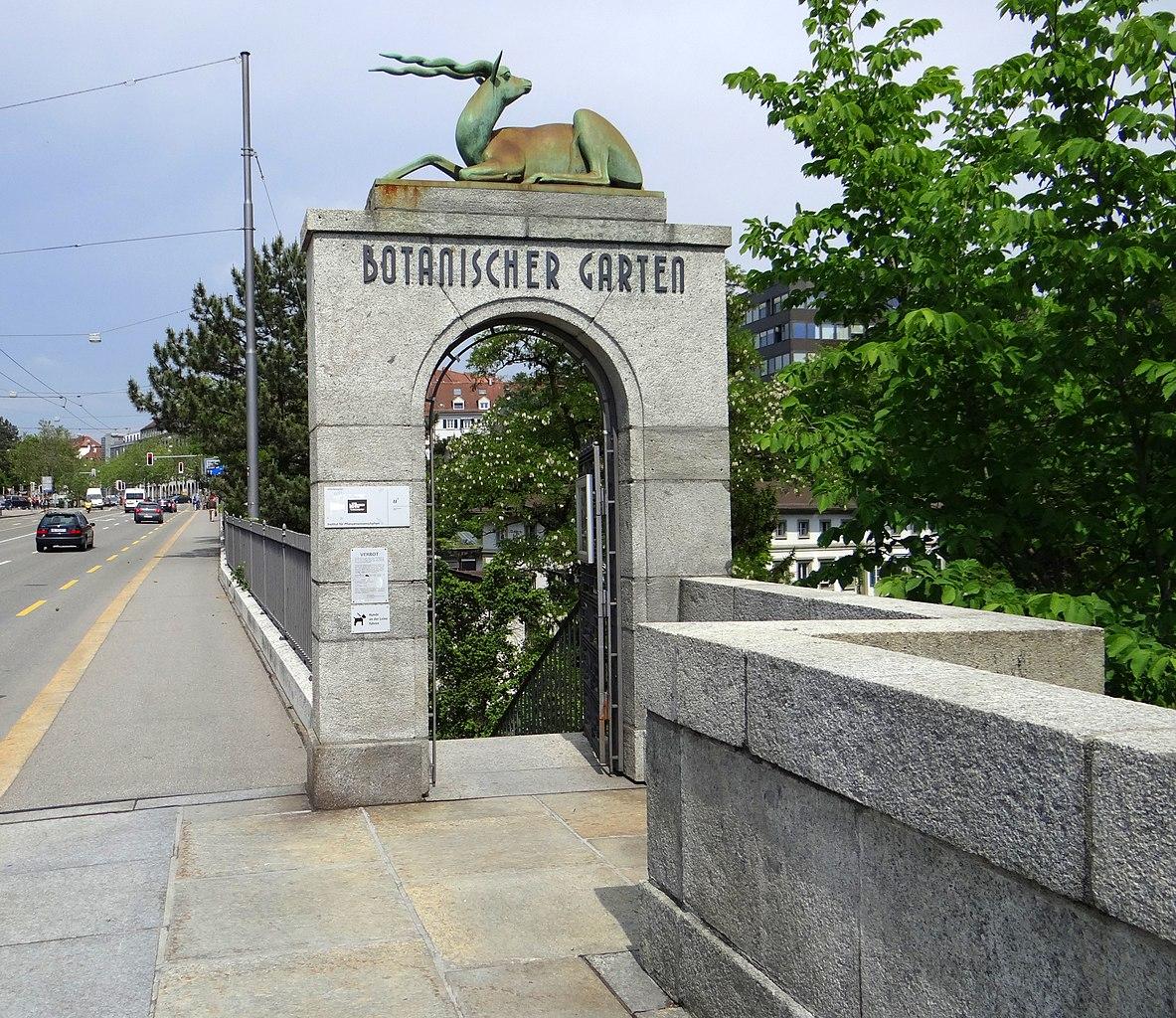 File:Botanischer Garten Bern -Eingang.JPG