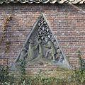 Bouwfragmenten - wimbergfragmenten afkomstig van de pandhof van de Domkerk - Wimbergreliëf 5, zuidvleugel pandhof, 5e travee vanaf het noorden - Utrecht - 20416134 - RCE.jpg