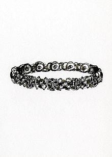Disegno di un braccialetto.