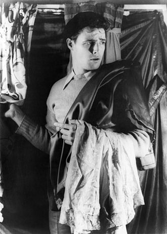 Marlon Brando - A 24-year-old Marlon Brando on the set of the Broadway production of A Streetcar Named Desire, 1948
