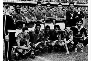 Zito (footballer) - Zito (standing, third from left) lining up for the 1958 FIFA World Cup Final