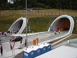 Sitina Tunnel - Southern entrance to the tunnel, at the opening ceremony on 23 June 2007