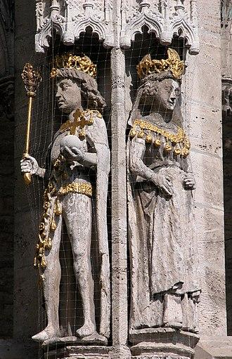 Otto IV, Holy Roman Emperor - Image: Braunschweig Altstadtrathaus Otto IV. Maria von Brabant (2006)
