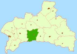 Location of Drahičinas rajons