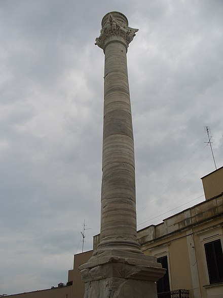 The column in Brindisi, marking the end of the Via Appia Brindisi-colonna.jpg