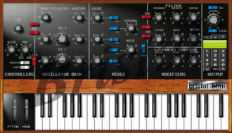 Software synthesizer - Bristol Mini soft-synth