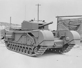 Battle of Longstop Hill (1943) - Churchill MKIII tank armed with a 6 pounder gun; the role it played in the capture was crucial