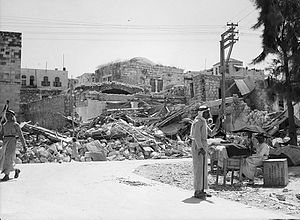 Jenin - Buildings in Jenin dynamited by British forces, 1938