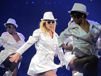 3 (Britney Spears song) - Spears performing the song during the Femme Fatale Tour, 2011.