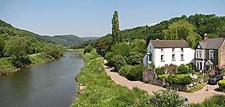 Brockweir village in United Kingdom