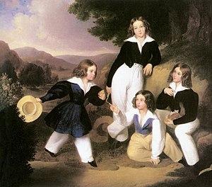 Károly Brocky - Image: Brocky, Karoly The Sons of István Medgyasszay (ca 1833)