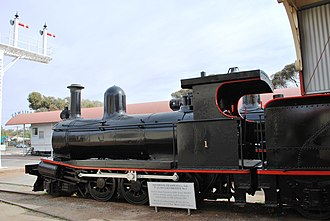 Southern & Silverton Rail - Preserved Y1 at Sulphide Street Museum, Broken Hill in August 2009