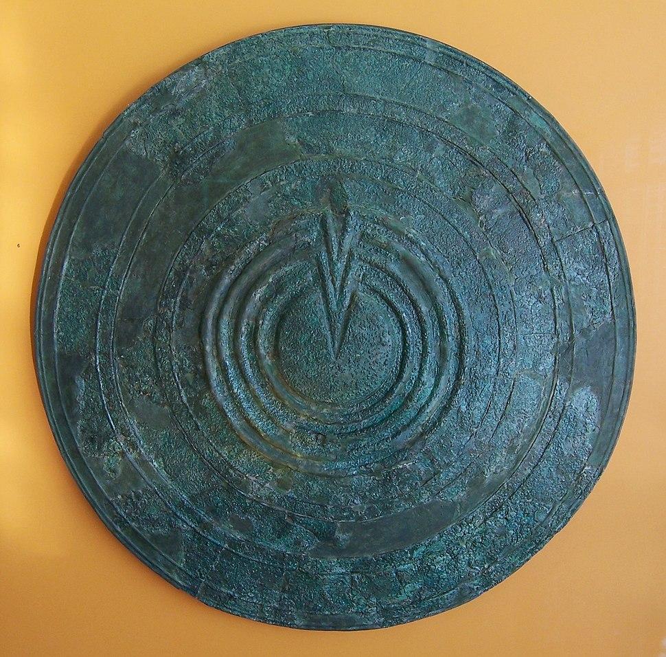 Bronze votive shield