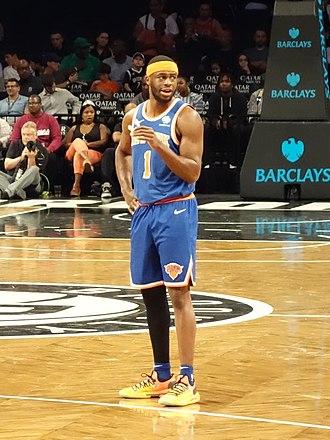 Emmanuel Mudiay - Mudiay with the Knicks in October 2018