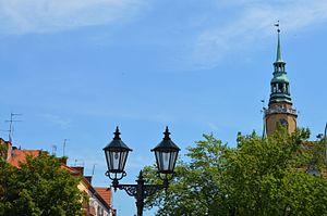 Brzeg Town Hall - Image: Brzeg Town Hall tower
