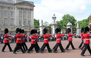Changing of the Queen's Guard at the royal res...