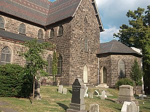 St. Peter's Church, Chapel and Cemetery Complex - Image: Buildingside