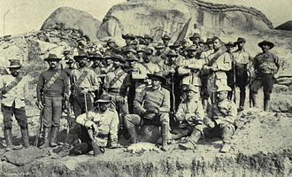 Company rule in Rhodesia - H Troop of the Bulawayo Field Force, commanded by Frederick Courteney Selous (front, seated), c. 1893