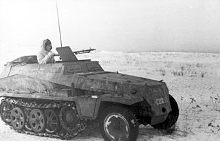 <i>Sd.Kfz. 250</i> Type of Half-track armored personnel carrier
