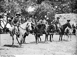 Battle of Kilimanjaro - German colonial volunteer mounted patrol, 1914