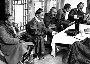 Tsarong - Tsarong (far right) in Lhasa in 1938
