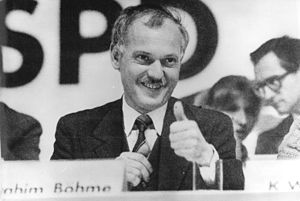 Social Democratic Party in the GDR - Ibrahim Böhme after being elected party chairman in February 1990.