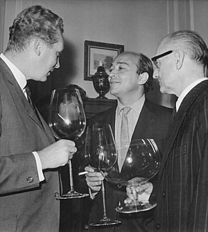 Karel Reisz - Left to right: Frank Beyer, Karel Reisz and Antonín Brousil at the 14th Karlovy Vary International Film Festival, 7 July 1964