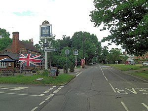 Burchetts Green - Image: Burchetts Green Road passes The Crown (geograph 3017133)