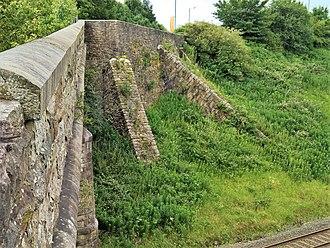 Burnley Barracks - Image: Burnley Barracks from Cavalry St bridge