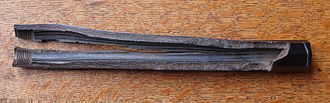 Proof test - Catastrophically burst barrel of a muzzle loader pistol replica. During proofing the barrel was loaded with nitrocellulose powder instead of black powder. The barrel was not able to withstand the higher pressures of the modern propellant.