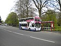 Bus on Princes Avenue, Roundhay Park (geograph 5435410).jpg