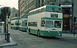 History of the PTE bus operations - West Yorkshire PTE Daimler Fleetlines in Leeds in August 1979