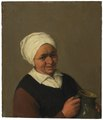 Bust of an Old Peasant Woman Holding a Jug - Nationalmuseum - 17551.tif