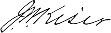 CAB 1918 John William Kiser signature.png